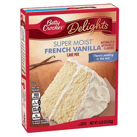 Betty Crocker Super Moist French vanilla cake mix