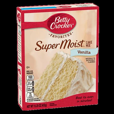 Betty Crocker Favorites Super Moist vanilla cake mix