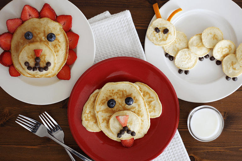 Betty Crocker animal shaped pancakes