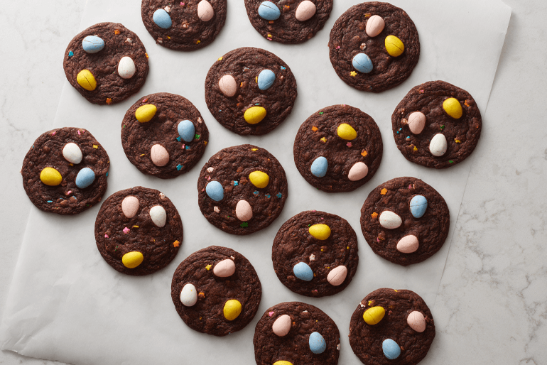 Betty Crocker Easter egg brownie cookies